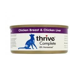 Thrive 100% vištienos krūtinėlės ir kepenų konservai