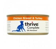 Thrive 100% vištienos krūtinėlės ir kalakutienos konservai