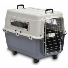 Plastikinis transportavomo boksas gyvūnams (su ratukais)