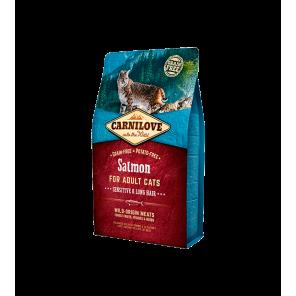 Carni Love Cat Salmon Sensitive & Long Hair sausas maistas katėms