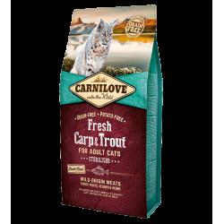 Carni Love Cat Fresh Carp/Trout sausas maistas sterilizuotoms katėms