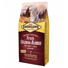 Carni Love Cat Fresh Chicken/Rabbit sausas maistas katėms