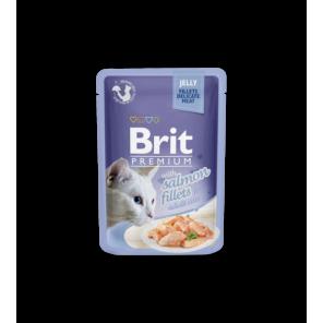 BRIT PREMIUM Cat Delicate Salm/Jelly konservai katėms