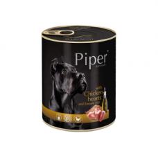 PIPER konservai šunims su vištų širdelėmis ir rudaisiais ryžiais