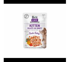 Brit Care Fillets in Gravy Turkey konservai kačiukams