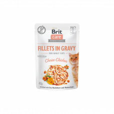 Brit Care Fillets in Gravy Choice Chicken konservai katėms