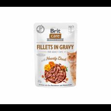 Brit Care Fillets in Gravy Hearty Duck konservai katėms