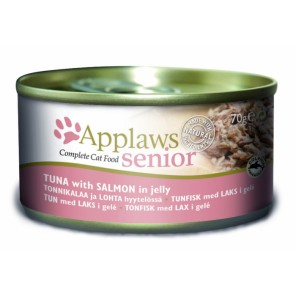 Applaws Cat Senio Tuna with Salmon in jelly