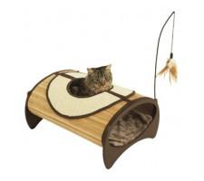 Rosewood-Bamboo Cat Pod.