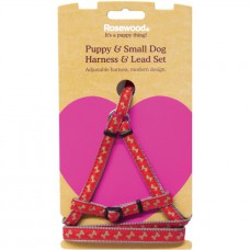 Rosewood Puppy Harness and Lead Set