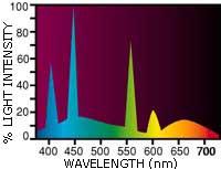Flora-Glo spektras